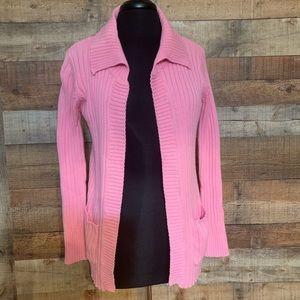 ZARA Pink cardigan sweater, size medium